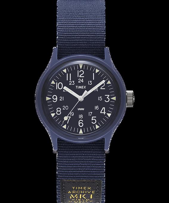 MK1 Military 36mm Grosgrain Strap Watch Blue large