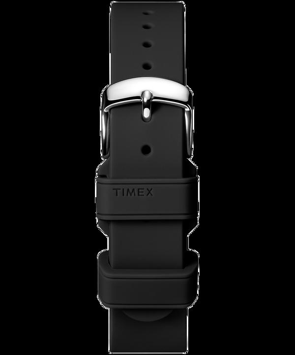 18mm breites Silikonarmband Black large