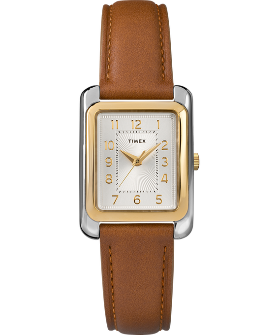 Meriden 25mm Leather Strap Watch Two-Tone/Brown/Silver-Tone large