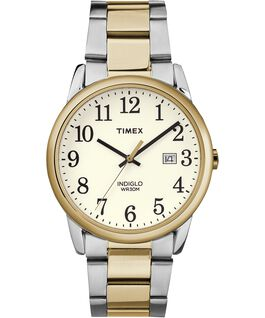 Easy Reader 38mm Stainless Steel Watch with Date Gold-Tone/Two-Tone/White large