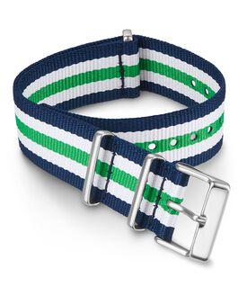 20mm Fabric Slip-Thru Double Layer Strap Green large