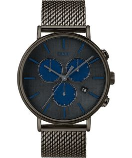 Fairfield Supernova mit Mesh-Metallarmband, 41 mm Grau large