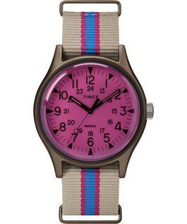MK1 California 40mm Fabric Strap Watch Tan/Pink large