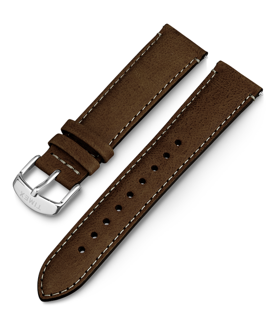20mm iQ Dark Brown Leather Strap Brown large