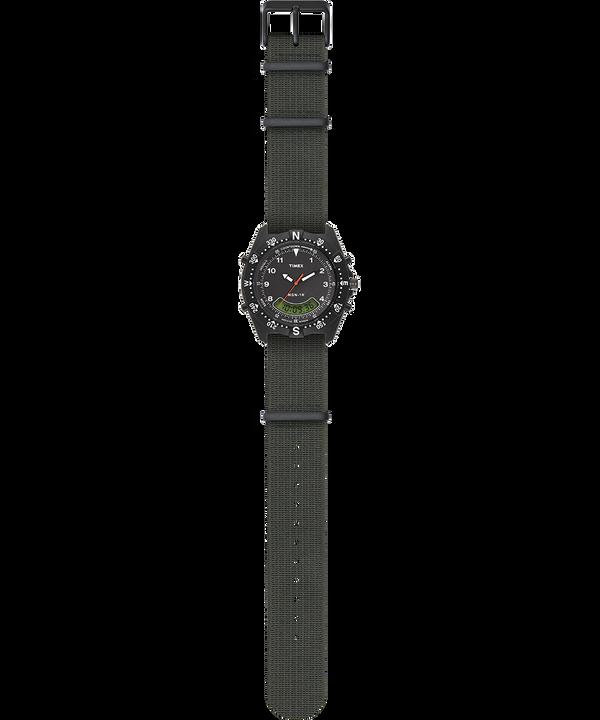 Zegarek NSN-1K z kopertą 39 mm i paskiem z elastycznego materiału Black/Green large