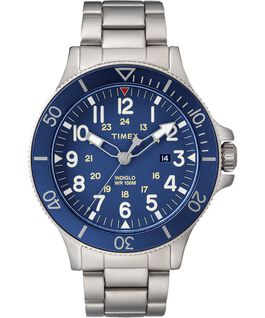 Allied Coastline 43mm Stainless Steel Watch Silver-Tone/Blue large
