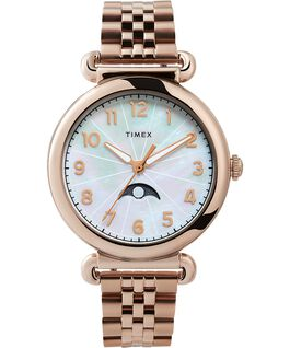 Model 23 38mm Stainless Steel Bracelet Watch Rose-Gold-Tone/Mother-of-Pearl large
