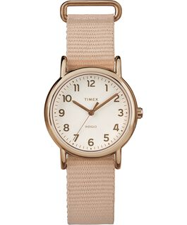 Weekender 31mm Fabric Strap Watch Rose-Gold-Tone/Pink/Cream large