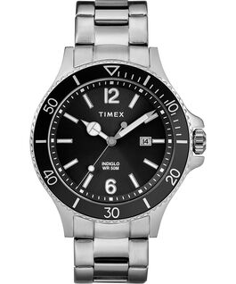 Montre bracelet Harborside 42mm Chrome/Argenté/Noir large