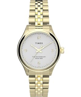 Waterbury Classic 34mm Watch Stainless Steel Gold-Tone/White large
