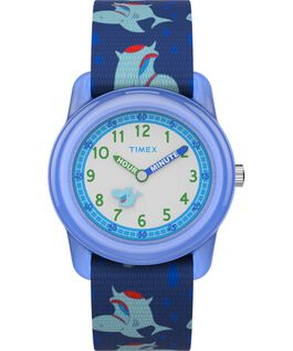 Kids Analog 32mm Nylon Strap Watch 1 Blue/Green/White large