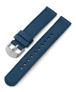 Bracelet en tissu 18mm Bleu large