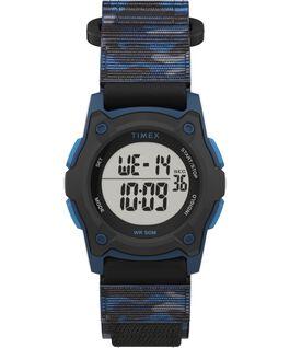 Kids Digital 35mm Fast Wrap Strap Watch Blue/Camo large