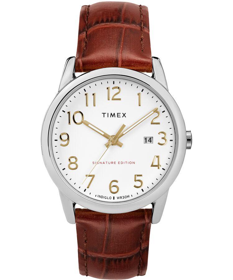 e669044681ab Reloj Easy Reader Signature de 38 nbsp mm con correa de cuero Two-Tone