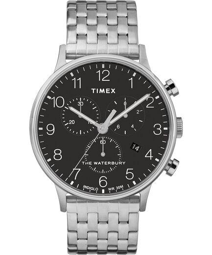 71126fe44eb4 Reloj cron oacute grafo Classic Waterbury de 40 nbsp mm con correa de acero  inoxidable Stainless