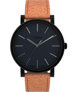Originals 42mm Leather Strap Watch Black/Brown large