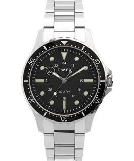 Navi XL41mm Stainless Steel Bracelet Watch Stainless-Steel/Black large