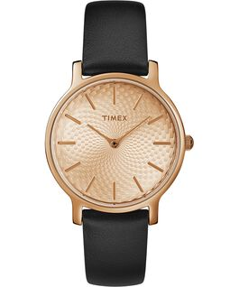 Metropolitan 34mm Leather Watch Rose-Gold-Tone/Black large