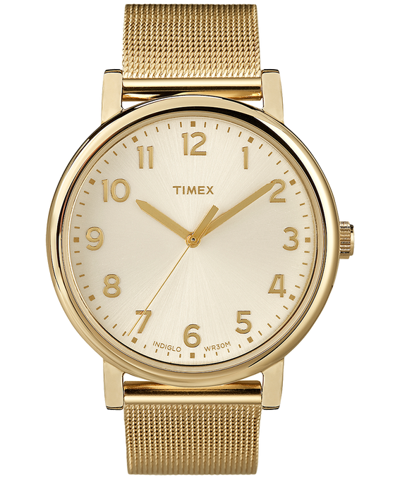 Originals Mesh 38mm Stainless Steel Watch Gold-Tone/Champagne large
