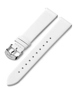 Bracelet en cuir 18mm boucle argentée Blanc large