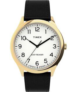 Reloj Easy Reader Gen1 de 40mm con correa de piel Dorado/Negro/Blanco large