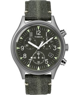 MK1 Chronograph Steel 42mm Fabric Strap Watch Stainless-Steel/Green large