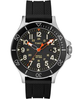 OROLOGIO ALLIED COASTLINE 43MM SILICONE CON CINTURINO IN SILICONE Silver-Tone/Black large