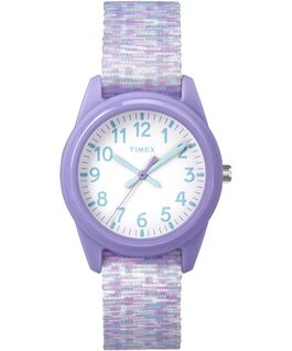 Kids Analog 32mm Digipattern Nylon Strap Watch Purple/White large
