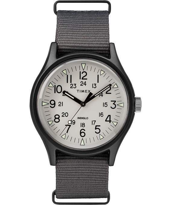 MK1 Aluminum 40mm Nylon Strap Watch Gray large